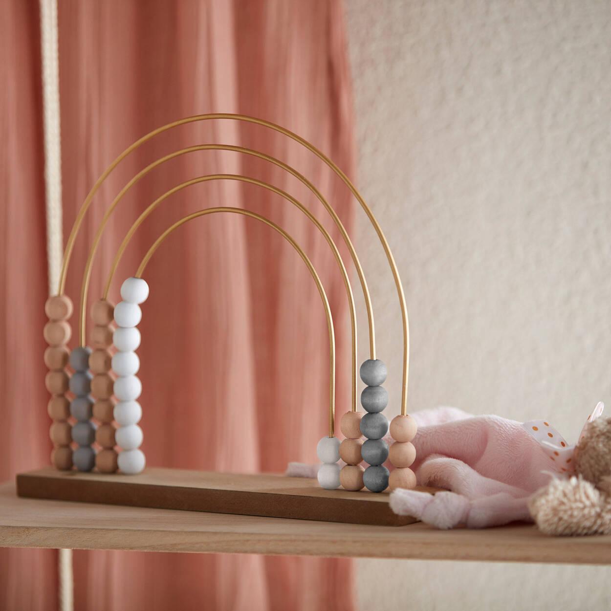 Decorative Wooden Rainbow Abacus