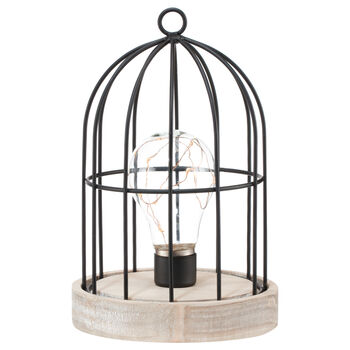 Bird Cage Table Lamp with LED Light
