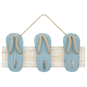 Flip Flop Wall Art With Hooks