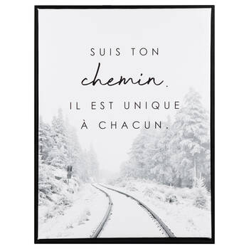 Suis ton Chemin Framed Printed Canvas