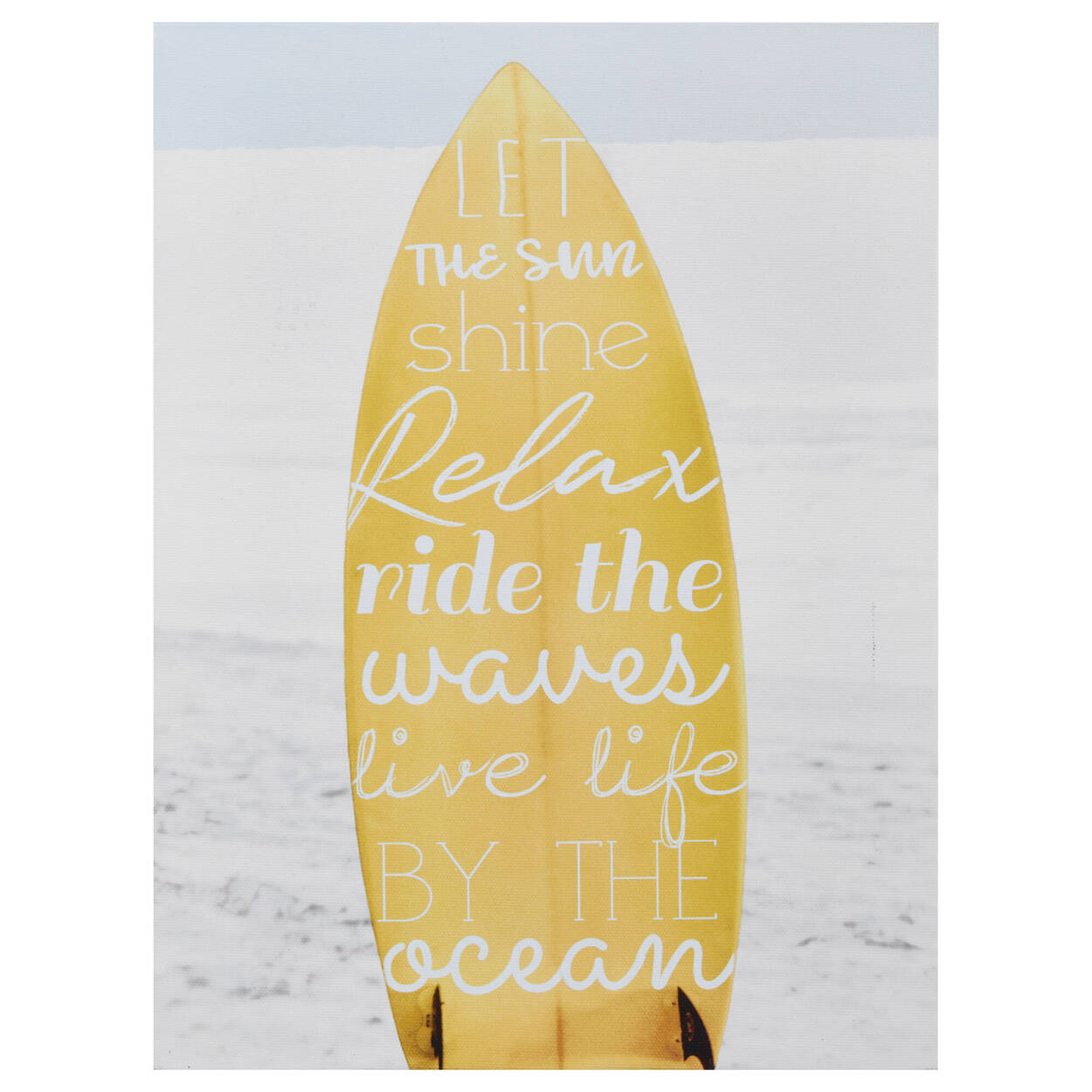 Typographic Surfboard Printed Canvas