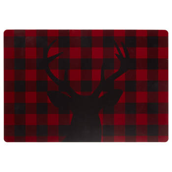 Buffalo Plaid Deer Placemat