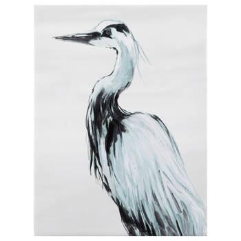 Crane by the Sea Canvas