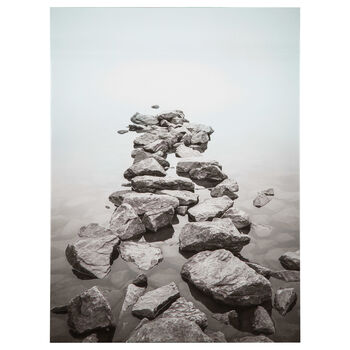 Rock Path Printed Canvas