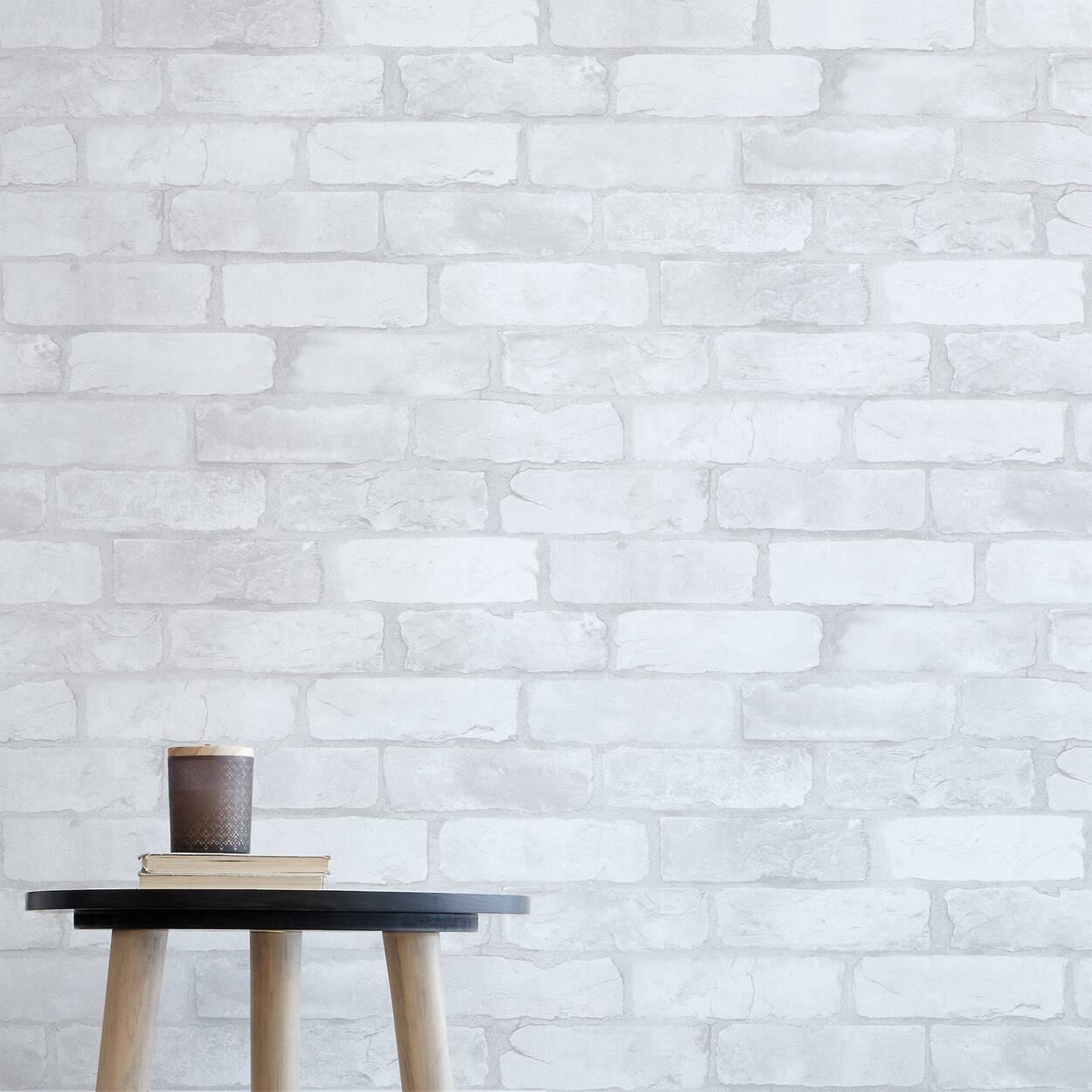 papier peint effet brique rouleau double. Black Bedroom Furniture Sets. Home Design Ideas