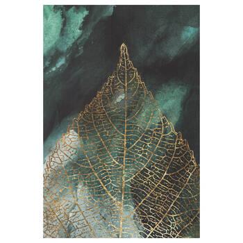Gold Leaf Closeup Printed Canvas