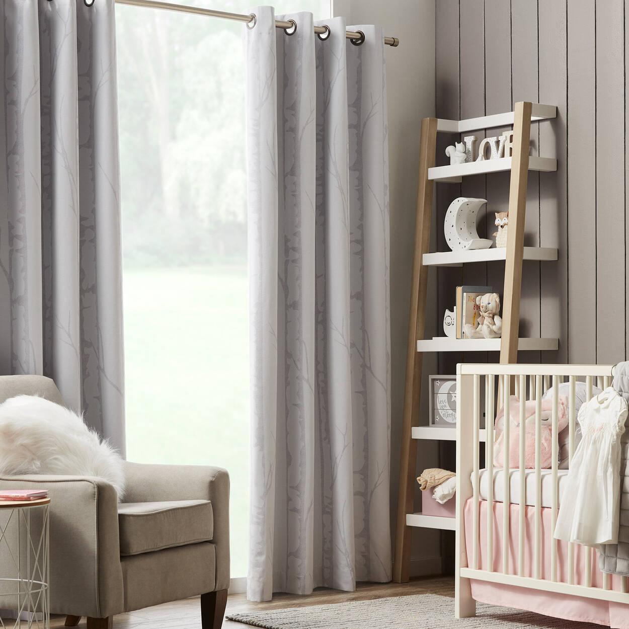 Birch Print Room Darkening Curtain