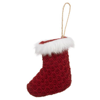 Knitted Stocking Ornament