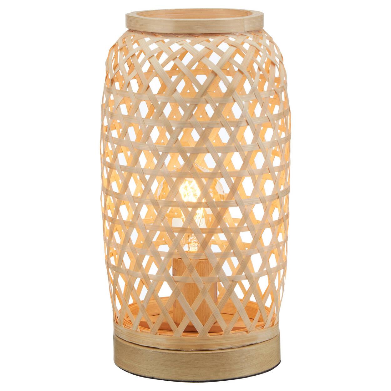 Lampe de table en tissage naturel