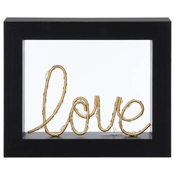 LED Love Word In Frame