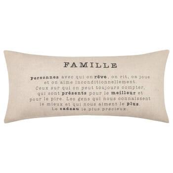"""Famille Decorative Lumbar Pillow 15"""" X 33"""""""