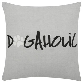 "Dogaholic Decorative Pillow Cover 18"" X 18"""