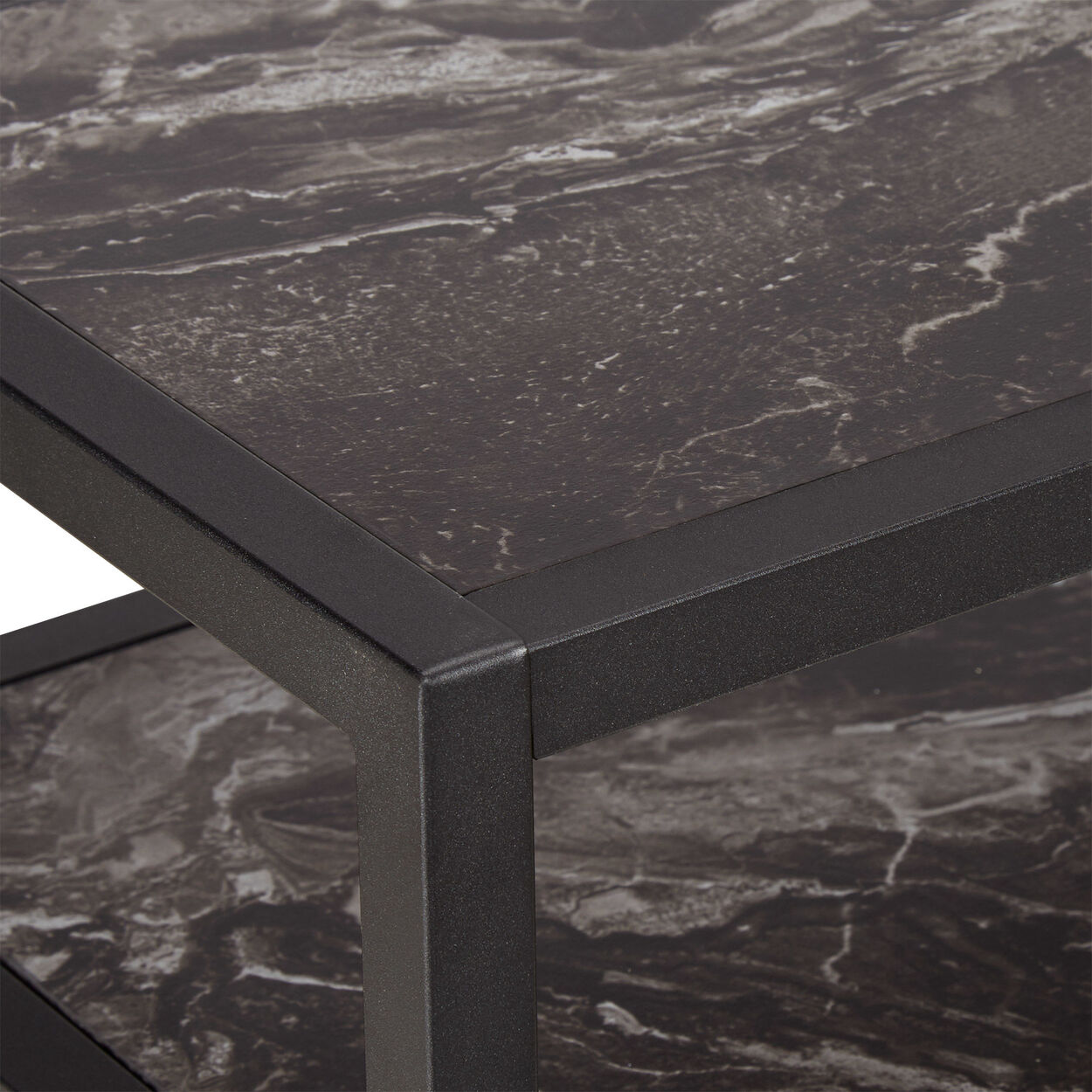 Marble Effect Veneer and Metal Console