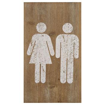 Restroom Wooden Wall Plaque