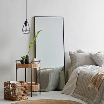 Full-Length Aluminum-Framed Mirror
