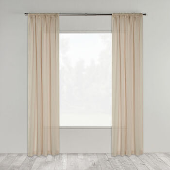 Zina Linen Rod Pocket & Invisible Back Tab Sheer Curtain