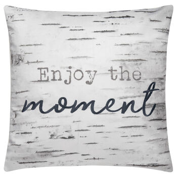 "Enjoy the Moment Decorative Pillow 18"" X 18"""