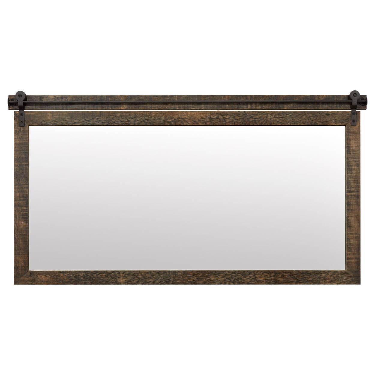 Barn Wood Inspired Mirror