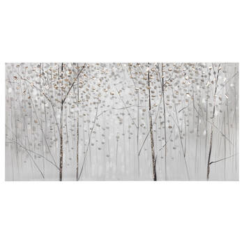 White Trees Oil Painted Canvas