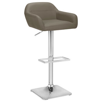 Faux Leather and Chrome Adjustable Bar Stool
