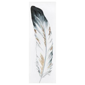 Tableau imprimé plume avec embellissements au gel