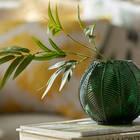 Cache-pot vert en forme de feuille