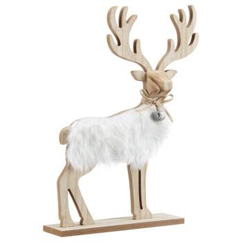 Decorative Deer with Faux Fur