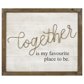 Together Metal and Wood Wall Art
