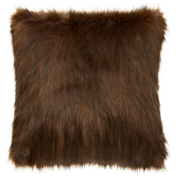 "Red Fox Faux Fur Decorative Pillow 20"" x 20"""