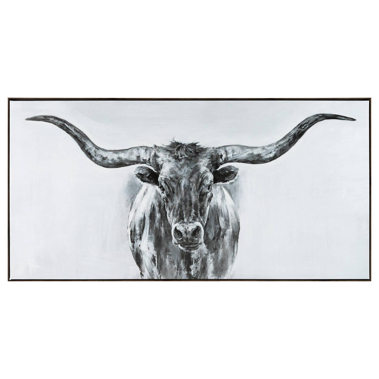 Cadre dessin de taureau avec embellissements au gel