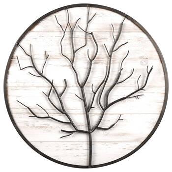 Round Metal Tree Wall Art