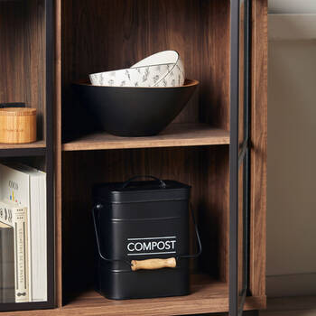 Compost Rustic Metal Bin