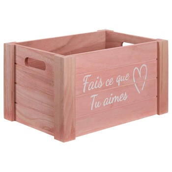Medium Do What You Love Wooden Crate