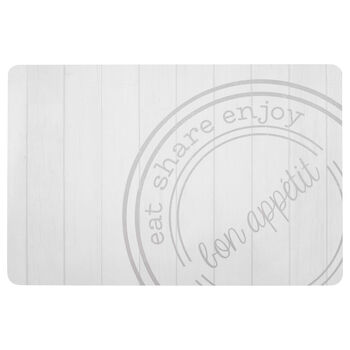Eat Share Enjoy Stamp Placemat
