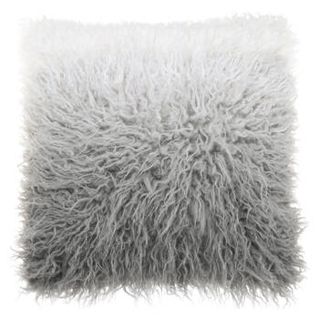 "Naadam Ombre Faux Fur Decorative Pillow 19"" x 19"""