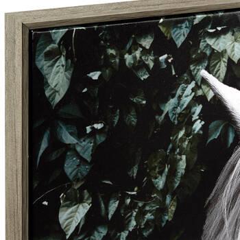 White Horse Framed Printed Canvas