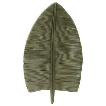 Green Ceramic Leaf Plate