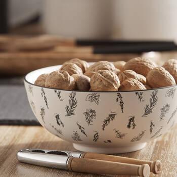 Herbs Porcelain Bowl