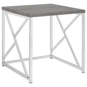 Veneer and Metal Side Table