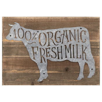 Organic Fresh Milk Wood-Like Plaque