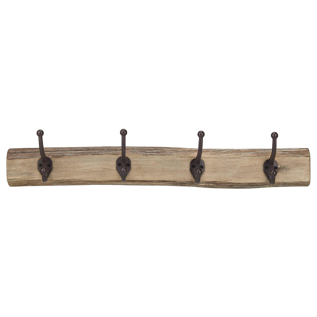 Ensemble de 4 crochets sur planche de bois