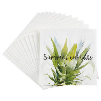 Pack of 20 Summer Cocktails Paper Napkins