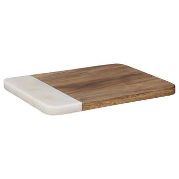 Wood and Stone Cutting Board