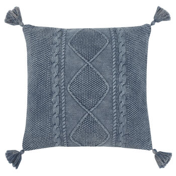"Victory Decorative Pillow with Tassels 18"" X 18"""