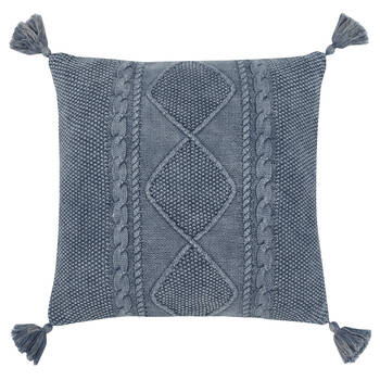 """Victory Decorative Pillow with Tassels 18"""" X 18"""""""