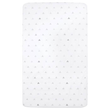 Fitted Crib Sheet with Geometric Pattern