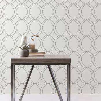 Grey Circles Peel-&-Stick Wallpaper