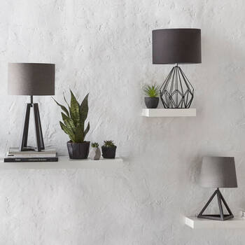 Triangular Metal Table Lamp