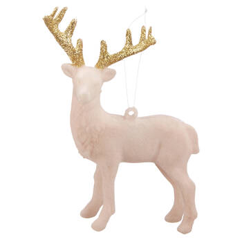 Pink Reindeer Ornament