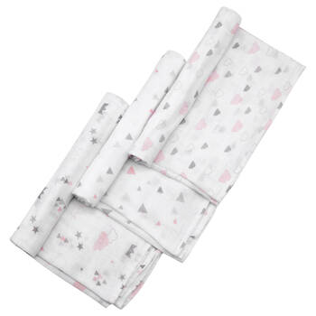 Set of 3 Printed Swaddle Blankets
